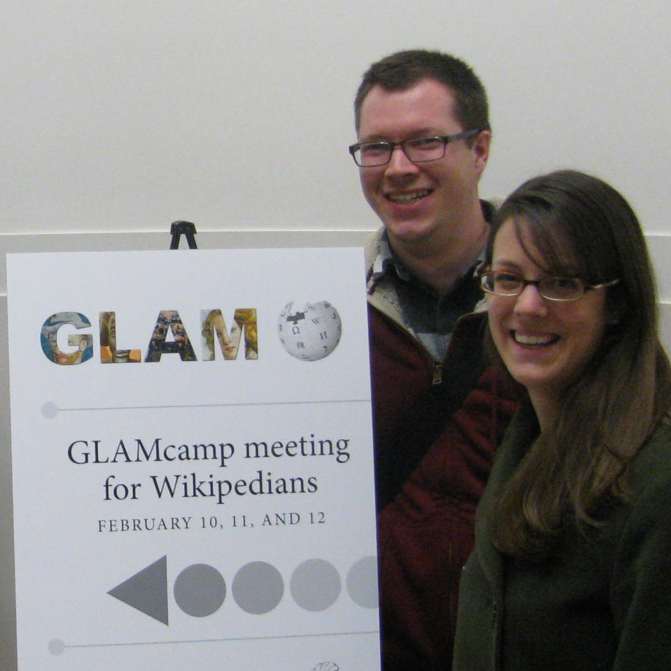 Lori and Dominic at GLAMcamp DC
